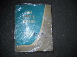 1961 Ford & Meteor Service Shop Reparatur Werkstatt Manuell OEM Buch 1961 - $24.74