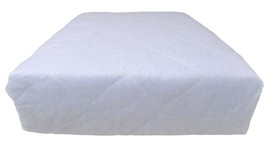 2 X SINGLE HOTEL QUALITY WHITE DEEP FITTED ANTI ALLERGENIC MATTRESS PROT... - $13.71