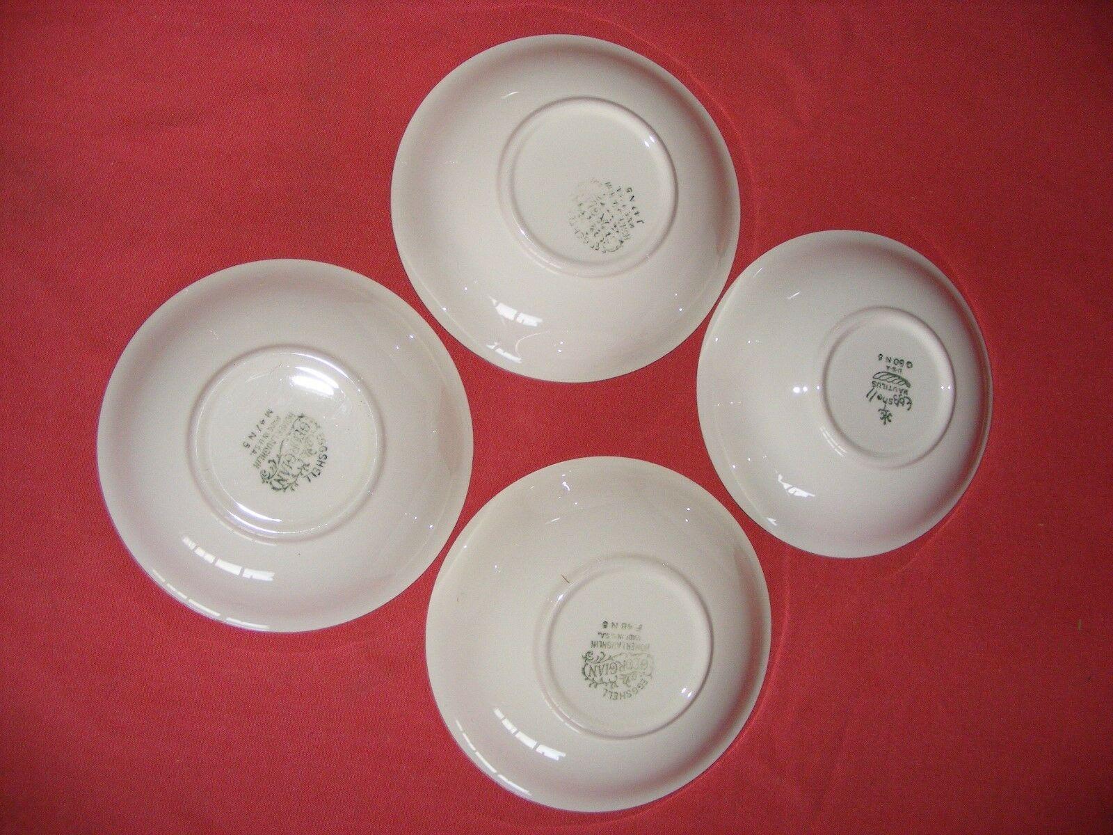 "4 Homer Laughlin Wedgwood 5 1/8"" Fruit Dessert Bowls Eggshell Georgian"