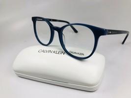 New Calvin Klein CK19521 410 Milky Blue Eyeglasses 52mm with Case - $79.15