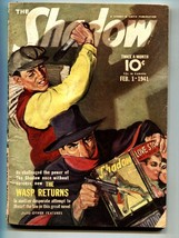 Shadow 1941 Feb 1-Newsstand cover- Street And SMITH-RARE Pulp Vg - $194.00