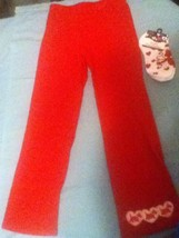 Girls-Size 6-Lot of 2-Greendog pants&socks-red-Great for school - $11.15