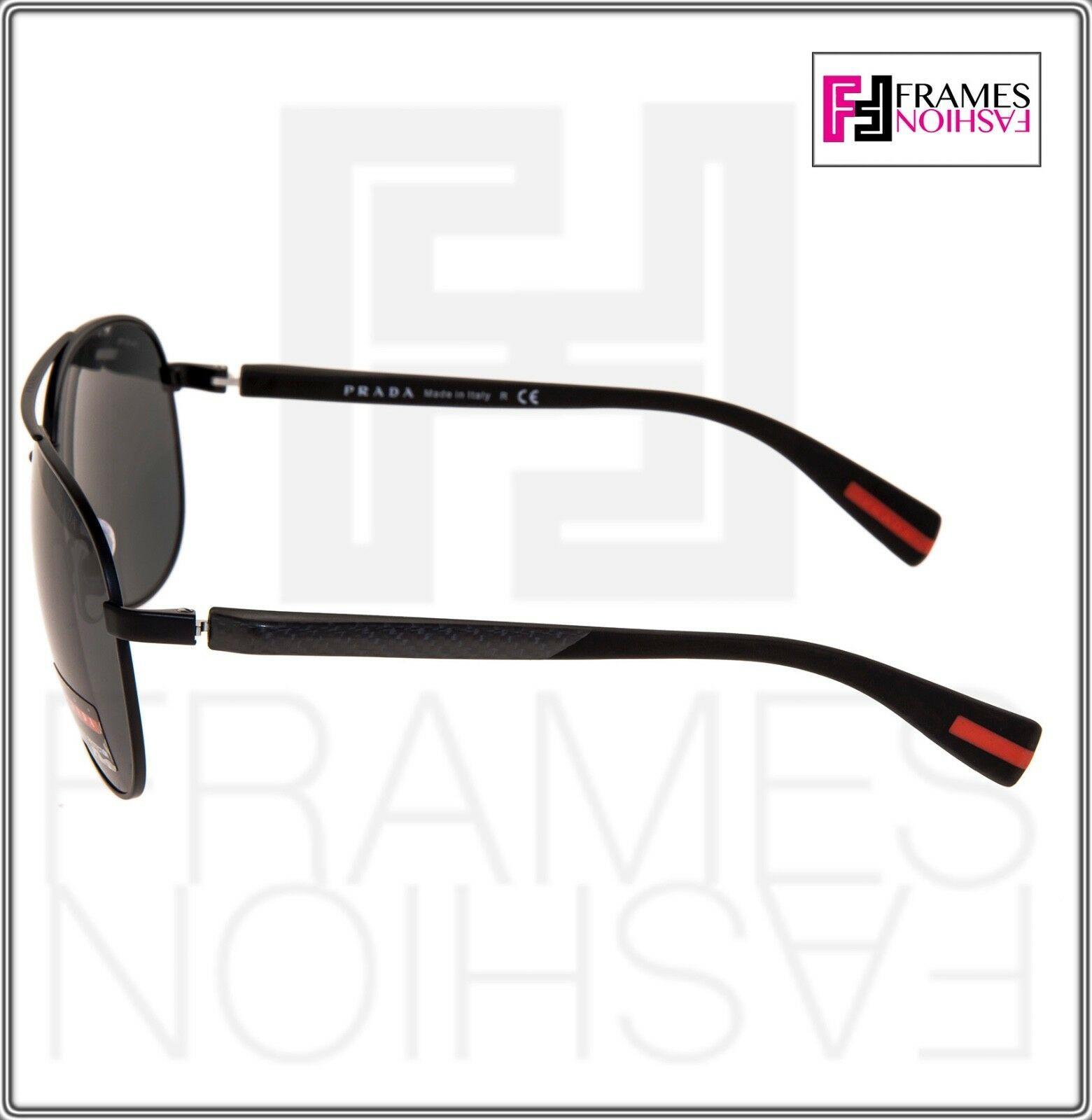 PRADA LINEA ROSSA NETEX PS51OS Black Aviator Sport Sunglasses SPS 51O Men image 2