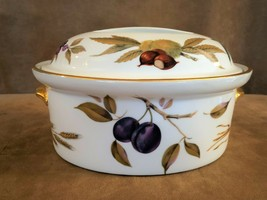 Royal Worcester Evesham oval gold fruit casserole shape 24 size 4 porcel... - $94.50