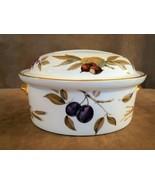 Royal Worcester Evesham oval gold fruit casserole shape 24 size 4 porcel... - $94.50