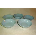 Mid century homer laughlin skytone berry dessert bowls 4 pcs 1950's Blue - $33.00