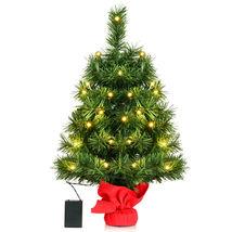 "24"" Pre-Lit Tabletop Mini Artifical Fir Christmas Tree Decor w/ Led Ligh... - $47.99"