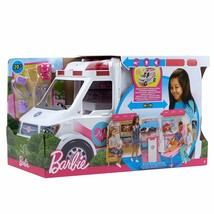 Barbie Ambulance Hospital 2 IN 1 With Many Accessories Toy Girl New - $260.45