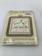 Uniek Accents Counted Cross Stitch Kit  Lamb Welcome Baby With Frame #26... - $5.89