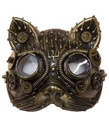 Jacobson Hat Company Unisex-Adult's Steampunk Cat Mask, Brown, Adjustable - $10.94
