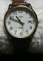 Men's Timex Indiglo Date Watch New Band New Battery - $22.77
