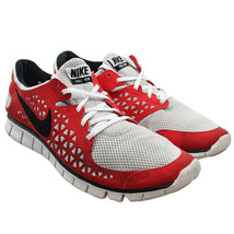 NIKE Free Run Mens Size 13 Red Gray Running Shoes Sneakers 395912-001 - $28.70