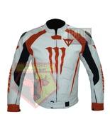 DAINESE 1011 ORANGE WATERPROOF COWHIDE LEATHER MOTORCYCLE MOTORBIKE ARMOR JACKET - $289.99