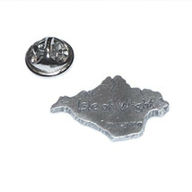 english pewter map of isle of wight uk. Lapel Pin Badge / tie pin gift boxed