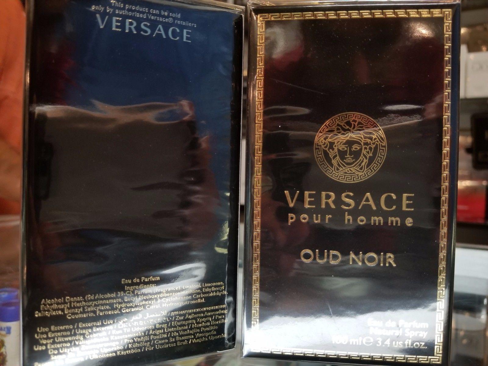 Versace Pour Homme OUD NOIR 3.4 oz / 100 ml EDP Eau de Parfum Spray Men * SEALED - $87.99