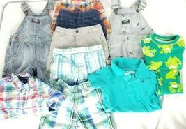 Lot 11 Boys 18M Clothes Shorts Tops Pajamas Shortalls Spring/Summer  - $29.69