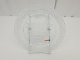 "Fostoria Ohio Glass Collector Plate Satin Crystal 9"" Our American States... - $5.94"