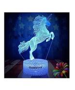 Unicorn Gift Kids Night Light for Christmas 3D Night Light Horse Gifts L... - $18.20