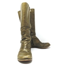 MIZ MOOZ BLOSSOM Green Knee High Leather Boots  Wedge Womens Sz 7 Anthro... - £44.18 GBP