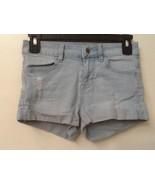 Bullhead Denim Co. Distressed Light Blue Shorts, Super Stretch Shorty, S... - $12.95
