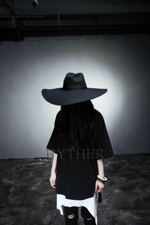 ByTheR Unisex Modern Chic Classic Style Floppy Wide Brim Wool Felt Fedora Hat image 10