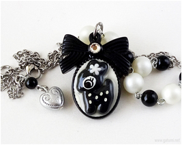 Kawaii Deer Necklace, Gothic Lolita, Japan Fashion, Cameo Jewelry, Resin - $20.00