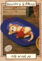 Kountry Kittens cat crochet pattern: ALL TIED UP AA2763 - $12.50
