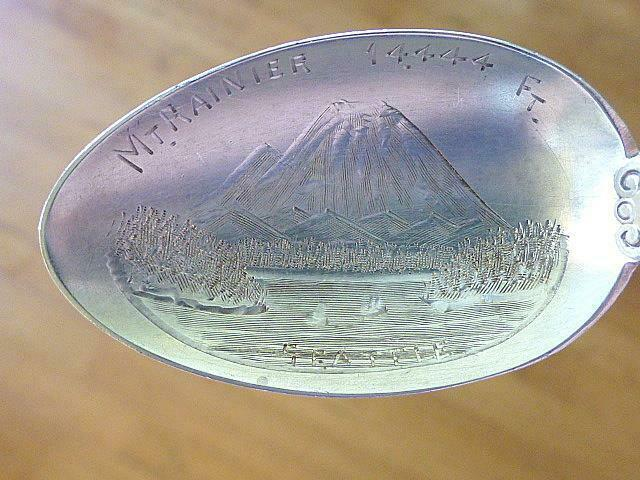 Primary image for Vintage SEATTLE WASHINGTON WA Mt Rainer Sterling Silver Souvenir Spoon