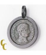 Antike Römische Münze IN Silber Antiker Look Blende Anhänger 3.9 Gramm - $343.61