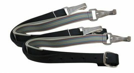 WESTERN OR ENGLISH SADDLE HORSE PAIR SIDE REINS FOR TRAINING ELASTIC W/ ... - $18.69