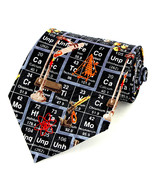 Periodic Table Men's Neck Tie Science Chemist Scientist Chemistry Black ... - $15.79