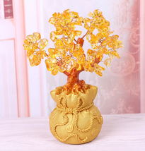 Feng Shui Crystal Wealth Lucky Money Tree Best Gift & Home Good Luck Decoration image 7