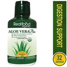 Country Life Aloe Vera Plus - Realfood Organics - 32 Fl Ounce Liquid - May Help