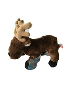 ganz Reindeer With Tag Dark Brown Adorable Christmas Webkinz - $15.75