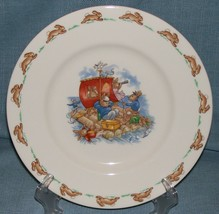 "Royal Doulton Bunnykins- 8"" Child Dinner Plate -Raft / Rafting Design SF111 -EUC image 2"