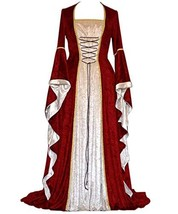 Ustay Womens Plus Size Renaissance Medieval Costume, Gown Cosplay (Small... - £37.29 GBP