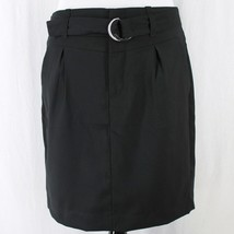 Banana Republic Pencil Skirt Sz 6 Black Pleats Belted Straight Lined  - $17.99