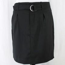 Banana Republic Pencil Skirt Sz 6 Black Pleats Belted Straight Lined  - $343,79 MXN