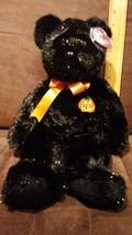 "Ty Beanie Buddy Haunt The Halloween Teddy Bear Plush Black Halloween Pumpkin 14"" - $8.99"