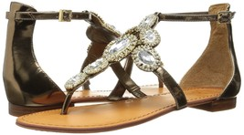 Women Vince Camuto Manelle Jeweled Sandals, Bronze Mirror Metallic Lea Mul Sizes - $99.95