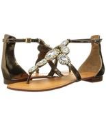 Women Vince Camuto Manelle Jeweled Sandals, Bronze Mirror Metallic Lea M... - $79.96
