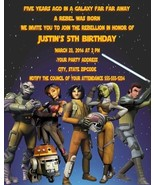Star Wars Rebels Birthday Party Invitations Personalized Custom - £0.73 GBP