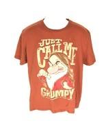 Disney Grumpy Men's T-Shirt Red L - $14.84