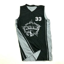 WHAM! Basketball Jersey Youth Size Large L Black Silver REVERSIBLE Tank ... - $17.83