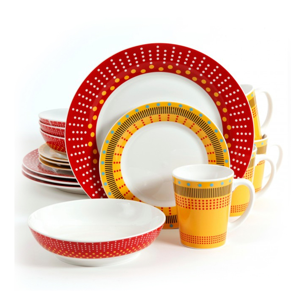 Gibson Lockhart 16pc Dinnerware Set in Red and 50 similar items