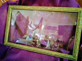 """Vintage Picture Frame with Glass 16"""" X 9"""" opening - $35.00"""