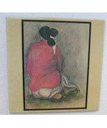 "1970's R.C Gorman Navajo ""Woman Kneeling"" Extra Large Native Indian Woma... - $65.00"
