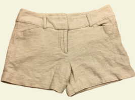 Ann Taylor Signature Factory Womens Shorts Sz 8 Tweed Linen Rayon Cotton... - $28.70