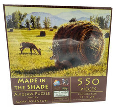 """""""Made in the Shade"""" Deer in a Field Jigsaw Puzzle 550 Pcs - $15.83"""