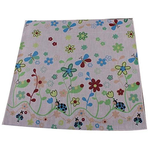 5 Pcs Colorful Flower Baby's Cotton Bibs Infant Handkerchief Sweat Wash Towel